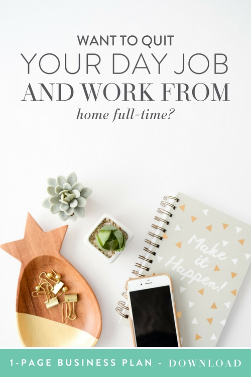 One of the most exciting milestones for any solopreneur is getting to the point where they're ready to quit your 9 to 5 job… and work as a full-time home-based business owner.  The mistake that many solopreneurs make? Quitting their 9 to 5 jobs without a strategic plan in place for doing it in the most effective way possible.  Here's the thing: if you give your two weeks' notice and start working from home full-time without a strategic plan in place, you're going to run into problems.     Think Creative Collective