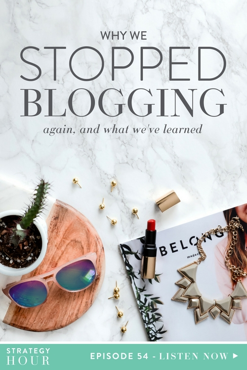 Blogging may be one of the things at the top of the list in our business. The blog was part of the early stages of our business, and existed pre-TCC. We first started blogging before we were even in business together, when it was still just a passion project of Abby's to educate small business owners on growth strategies. She was blogging five days a week, and literally never skipped a beat. After we met, we then decided to see if we wanted to work together on a longer-term basis. We decided that Emylee would guest blog for what is now the TCC blog, to essentially share the platform, and continued to put out content five days a week.  |  The Strategy Hour  |  Think Creative Collective