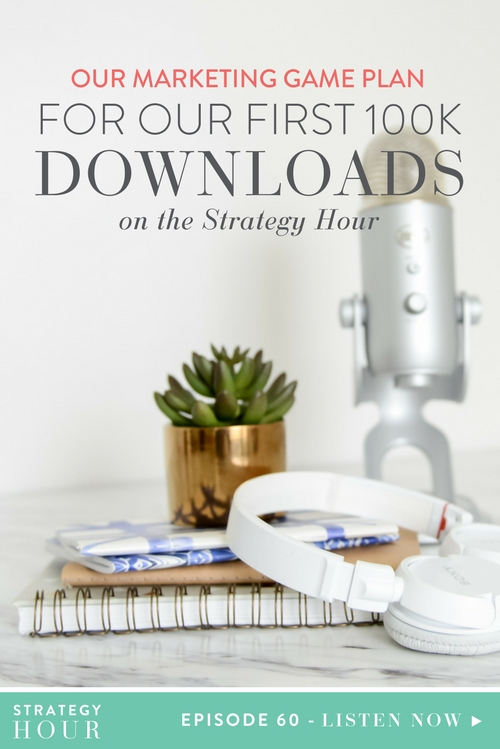 Hello little business babies! We are so excited to chat to you about reaching our first 100K downloads on the podcast in just four short months. We absolutely cannot believe how great you guys have been, and we are so thankful for the amazing support that we have been given. Each and every download, share, and review makes a huge difference to the impact that we are able to have on all of you creative biz bosses out there.  |  The Strategy Hour  |  Think Creative Collective