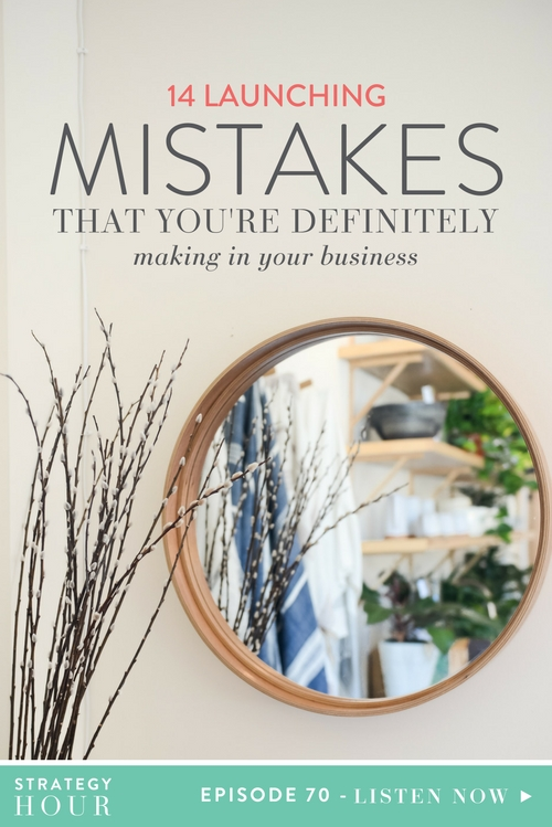 Today, we are talking about all the frigging mistakes we have ever made and mistakes we see you all making when it comes to launching. So, we are just going to call them for what they are and give you the flip side of what you could be doing to correct or prevent them so you can be way more successful than anyone else you have ever met in your life. Does that sound like a plan?  |  The Strategy Hour  |  Think Creative Collective