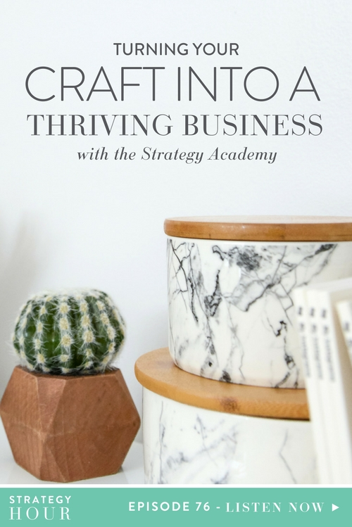 You guys, today is kind of an incredible day. We are introducing you to our newest creation, The Strategy Academy. It's our digital baby, the thing that we have been working on literally from day one. We wanted to create this new movement and program and opportunity for small business owners, specifically creative small business owners. The reactions have been amazing, the support, the cheerleading, everything around this program has just made our hearts go super warm and fuzzy.     The Strategy Hour     Think Creative Collective