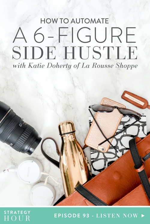 Today we are bringing on Wedding and Portrait Photographer, Katie Doherty of La Rousse Shoppe. Katie is a service and a product-based business babe. She started out as a teacher, had a passion for photography, saw a gap in the market and filled it with a $200k+ business that is as passive and automated as possible while continuously growing and expanding.     The Strategy Hour     Think Creative Collective