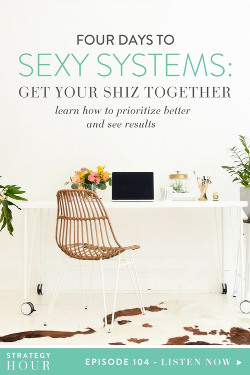 Today we are talking about the thing that we have created to help you get more organized, get your hot mess systems in gear and sort out what you need to be thinking about, asking yourself and doing if you truly want to have a productive work day and system to get more done in your business (yes, that was a mouthful). You might think that we're going to come in here and just talk to you just about Trello for Business, which is incredible. But what we've noticed is that some of y'all that enroll in that amazing program still feel overwhelmed and you don't know how to get all the shit you have right now into Trello in an organized manner. Well, we are here to help you avoid getting stressed out and overwhelmed in the process.  |  The Strategy Hour  |  Think Creative Collective