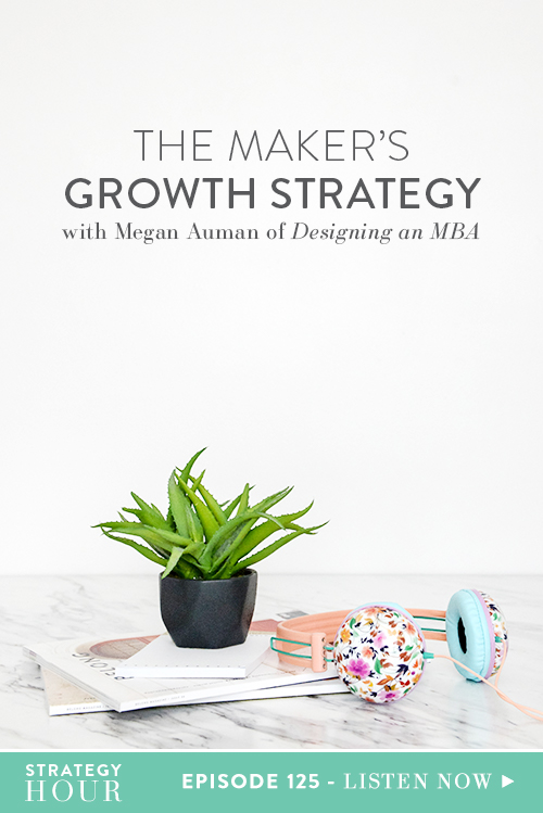 Megan Auman is a designer, metalsmith, educator and entrepreneur who has built a multi-faceted business around her passion for art, commerce and visual content creation. AKA, she rocks Instagram and Pinterest! In addition to running her eponymous jewelry line, you'll find her on Designing an MBA talking and teaching about the intersection of art and business.  |  The Strategy Hour  |  Think Creative Collective