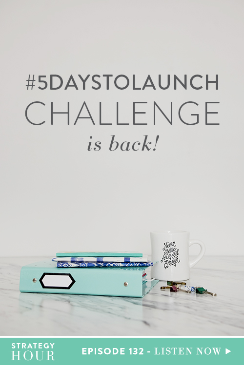 """The #5DaysToLaunch Challenge is back and we are beyond pumped! The #5DaysToLaunch Challenge is a free and designed to help you go from figuring out what your product should be to selling it by the end of the week. You might be thinking, """"What!? That's impossible!"""" But the truth is, it's absolutely possible! We have had hundreds of students accomplish this, and much more, in this five-day challenge. We created this course because so many of you are just sitting on your laurels.     The Strategy Hour     Think Creative Collective"""