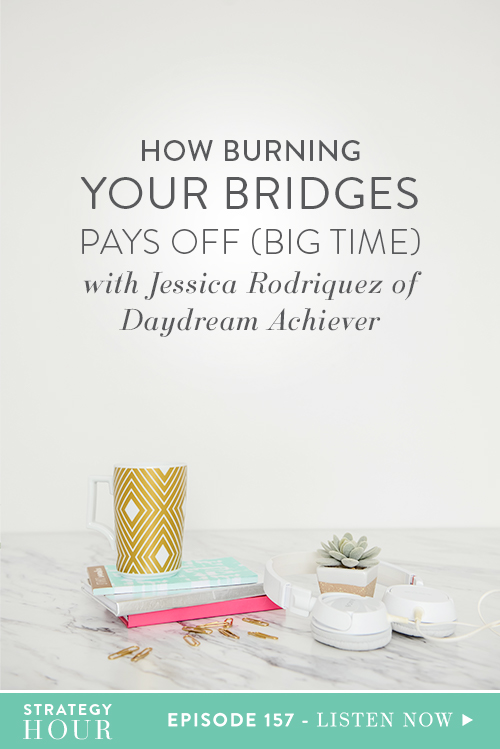 On today's show, we have a very special guest to share with our listeners, none other than Jessica Rodriguez! Jessica runs The Daydream Achiever and is a business and visibility strategist and podcast host. Through her business, she helps purpose-driven women scale their online business to six-figure years.     The Strategy Hour     Think Creative Collective