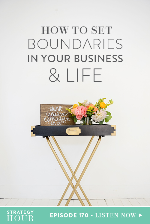"Today on the show, we are tackling a topic that has cropped up in a lot of Facebook groups recently, ours included, and it's a really good one for discussion! The question is, ""How the heck do you set, handle and enforce boundaries when you work from home?"" Not only with yourself, clients and customers but also if you have a spouse, a partner, or your kids at home. So whatever your situation, we are digging deep and pulling out the good stuff to help you with those boundaries.  