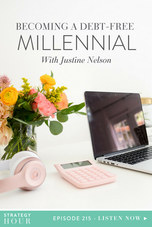 Today on the podcast we welcome Justine Nelson. Justine is a friend and previous co-worker who embarked on a personal journey to get rid of debt… and then decided to teach other people how to do it too. Justine is the founder of Debt Free Millennials, an online resource blog and coaching center helping thousands of millennials ditch debt and live like a boss. Today we are speaking about all the fun things – like student loans, debt culture and budgeting.  |  The Strategy Hour  |  Think Creative Collective