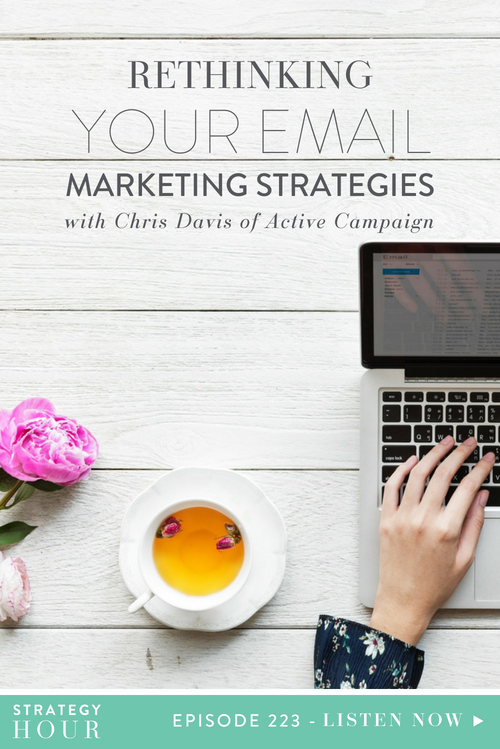 Today on the podcast, we welcome our latest internet crush, Chris Davis. Chris is the Director of Education at ActiveCampaign and is an email marketing genius. With everything going on in your business, the truth is, you need to take your email marketing seriously.  |  The Strategy Hour  |  Think Creative Collective
