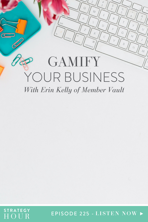 Today on the Strategy Hour Podcast we welcome the wonderful, the magnificent, the powerhouse, Erin Kelly! Erin is here to talk to us about MemberVault, something we are more than excited about. We'll be hearing about how MemberVault uses gamification as way to boost your business and increase your revenue.  |  The Strategy Hour  |  Think Creative Collective