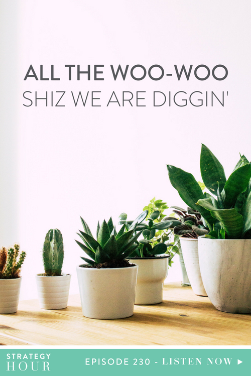 Y'all know that we're into some woo-woo shit. A big chunk of that woo-woo shit is essential oils – which we know you've already heard us talk about. But we have a whole lot of other woo-woo things that we do in our daily lives. Things like DIY cupping, getting Chinese foot massages, wearing crystals in our bras and going on family excursions to The Stinky Store. In this episode, we take you through an entertaining list of ten woo-woo things that make our lives better, that make us better, and in turn, make our business better.     The Strategy Hour     Think Creative Collective