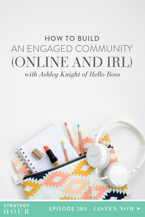 On today's episode we are super-duper excited to host Ashley Knight of The Hello Boss Community. Ashley founded the community as a means to support and bolster other businesswomen who were in the same boat as her. Through her group she is able to teach and coach strategy to an ever growing number of dedicated members and she loves it! And we love her for it!     The Strategy Hour Podcast    Think Creative Collective