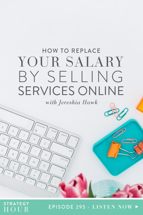 Welcome back to the show, all you biz badasses and money queens! Today we have a great episode in store for you that you are most definitely not going to want to miss! Our guest is Jereshia Hawk and she is here to tell us about how she switched from a big corporate job to selling her services online and increasing her salary in the process!  |  The Strategy Hour Podcast  |  Think Creative Collective