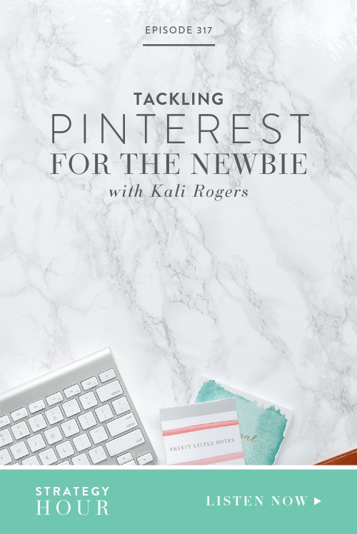 Joining us today on the podcast is Kali Rogers, the Founder of Blush Online Life Coaching, a life coaching business aimed at female millennials. Kali is here to teach us more about the super do-able, fun and stress-free Pinterest strategies that have boosted their site traffic and sales and grown their clients and customers. The best of all? You don't need a Pinterest marketing degree to implement them, you can start today!  |  The Strategy Hour  |  Boss Project