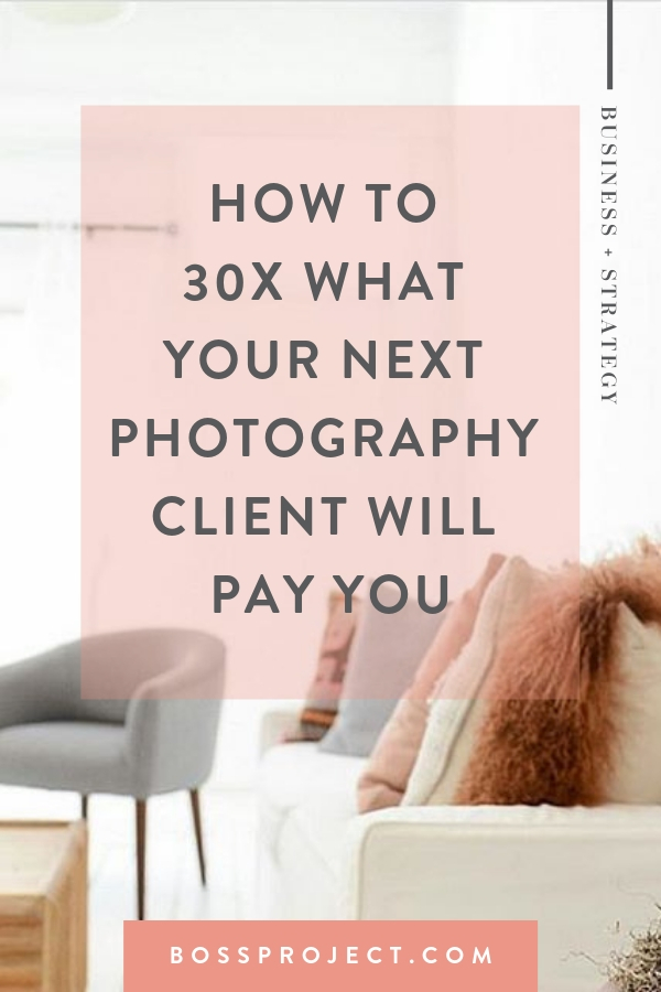 """As photographers we convince ourselves that we all have to go through this same """"rite of passage"""" in order to be legit. It looks something like this: Get Camera -> Work For Free -> Charge $50 -> What the Hell Happens Next?! So the goal is to take you from """"I could make more money working at Target"""" to """"Holy sh*t I'm looking at a $2k+ deposit"""". Ready?     Boss Project"""