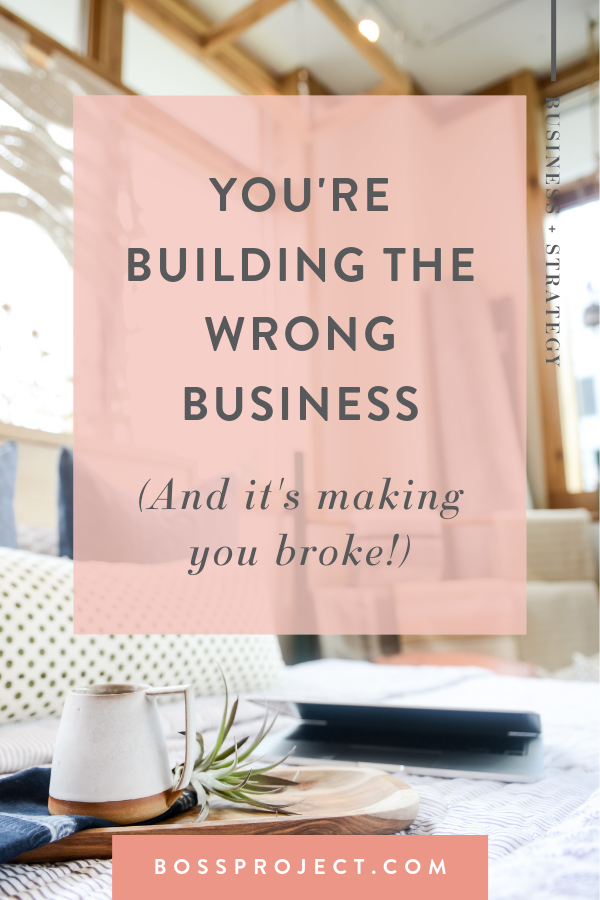 Here's the truth: it's not you. It is the strategies you're using. They aren't right for YOUR business.  |  Boss Project