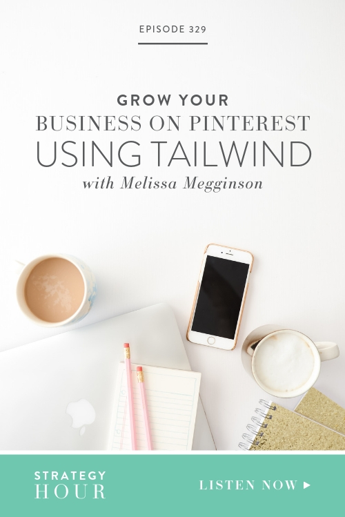 Today on the show we welcome Melissa Megginson! She is the Community Manager and resident Cat Lady at Tailwind, a company that is dedicated to helping brands with their visual and Pinterest aspirations. Tailwind can really help you and your biz conquer Pinterest in a way you might never have thought was possible.  |  The Strategy Hour Podcast  |  Boss Project