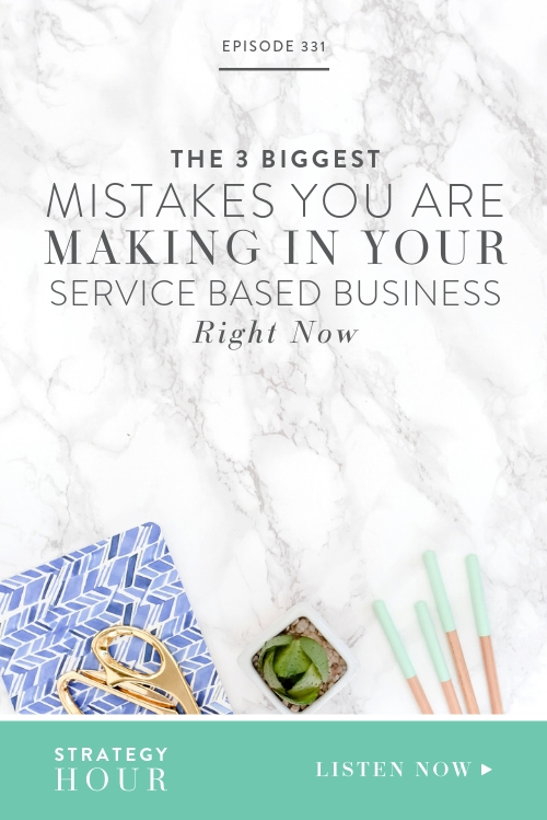 Everybody makes mistakes, but we hope to learn as we go. So today we're talking about the things that you might be getting wrong in trying to scale your service based business. Regardless of where you are in the process, these mistakes can be made at any and every level. So the episode today is going to involve a conversation that no one else is talking about.   |  The Strategy Hour  |  Boss Project