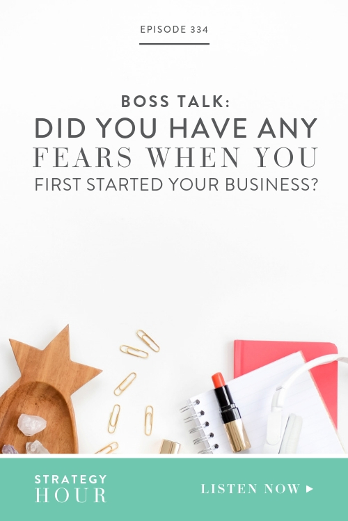"We're pumped to do another Boss Talk episode today! Our question for today is, ""Did you have any fears when you first started your business?"" We're talking about fears and what it was that drove our decisions in those early days of starting our own businesses.   