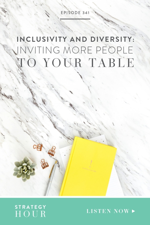 We will be unpacking inclusivity and diversity and our own experiences and the lessons we have learned in this area. We will be drawing mostly from our recent summit and what we took away from the event that we will carry forward. This episode will have actionable strategies and tips about how to invite everyone to your table.  |  The Strategy Hour  |  Boss Project