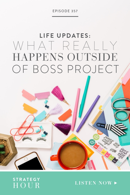We both have a lot going on behind the scenes, in our personal lives and we wanted to share some of what keeps us inspired, busy and our occupied when we are not doing our main thing!  |  The Strategy Hour  |  Boss Project