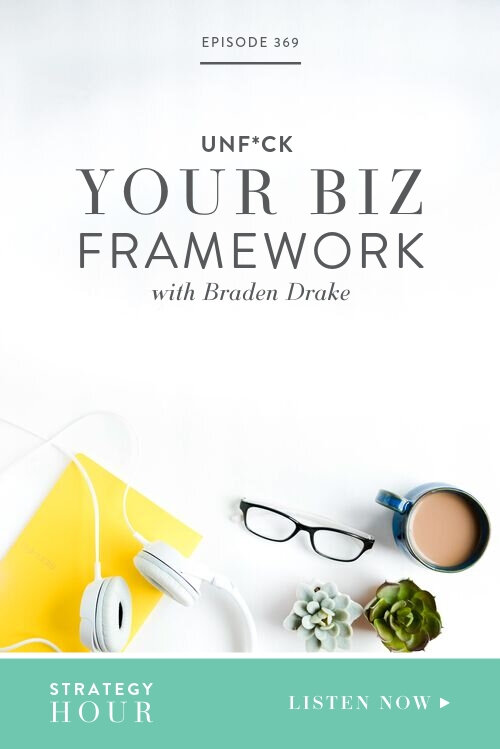 Today on the podcast we have Braden Drake, a California licensed attorney with a master's degree in tax law, joining our conversation. He runs an education company that teaches other small business owners how to get the legal and tax stuff in order to ultimately unf*ck your business framework! He's a pro at sorting out all the accounting and tax mess we make in our businesses, all those things that are totally befuddling to most of us!  |  The Strategy Hour  |  Boss Project