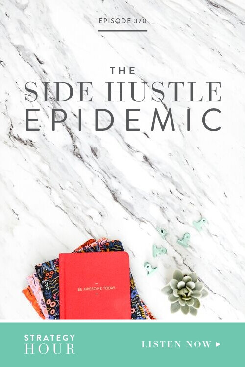 We did a survey to find out where you guys are currently at in your businesses, the areas you are struggling in, what kind of profits you are making and where we could come in and offer some guidance. What we've noticed from the feedback and about the industry in general is that there is an epidemic going on – one that involves the side hustle! So, we thought we better address this topic, not to pigeonhole you, but rather to give you the facts we've gathered.     The Strategy Hour Podcast     Boss Project