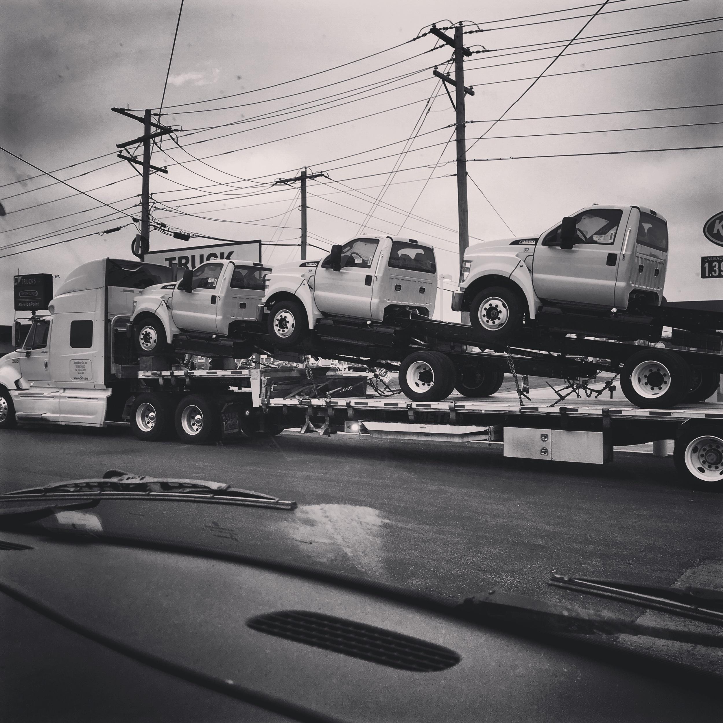 Trucks on top of trucks...