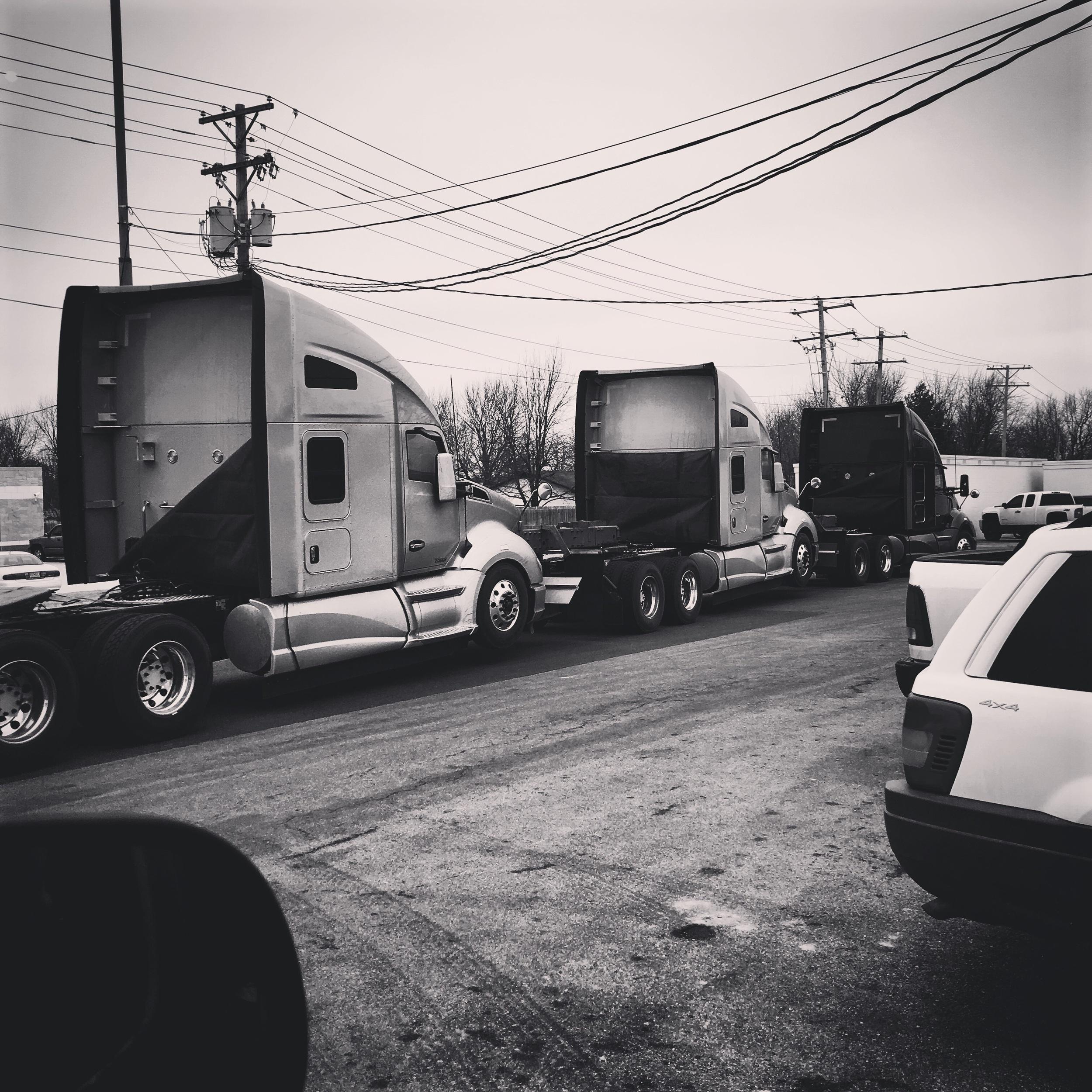 ...on top of trucks