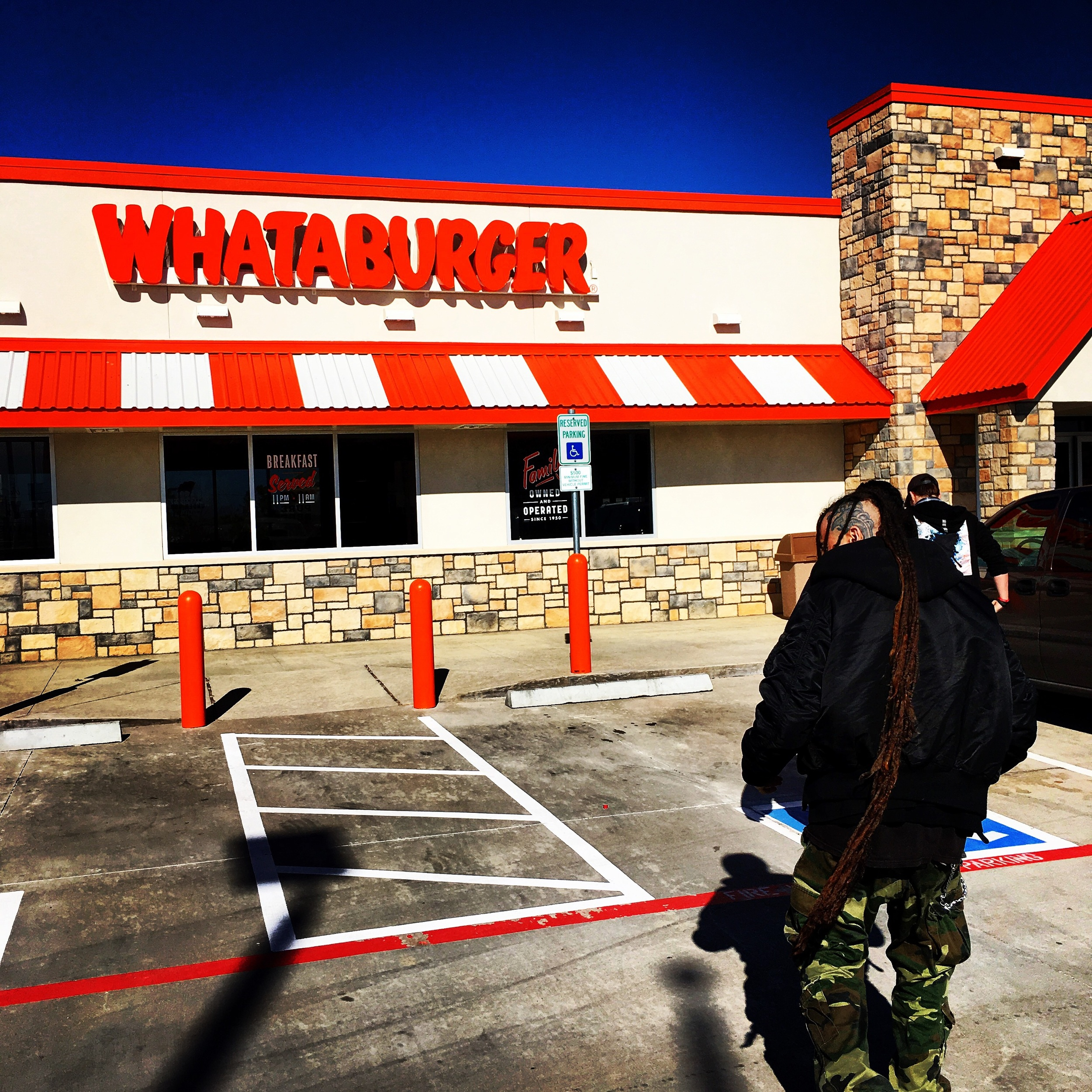 Zombie-walking into the gut wrenching yumminess that is WHATABURGER