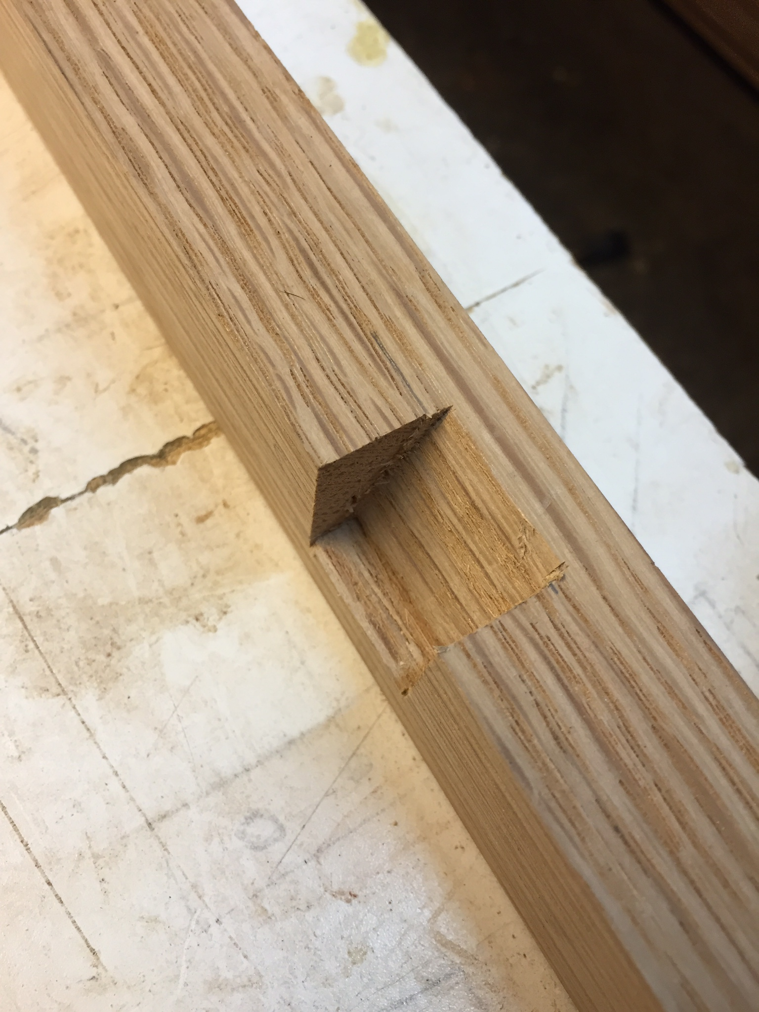 notch cut to accept frame head