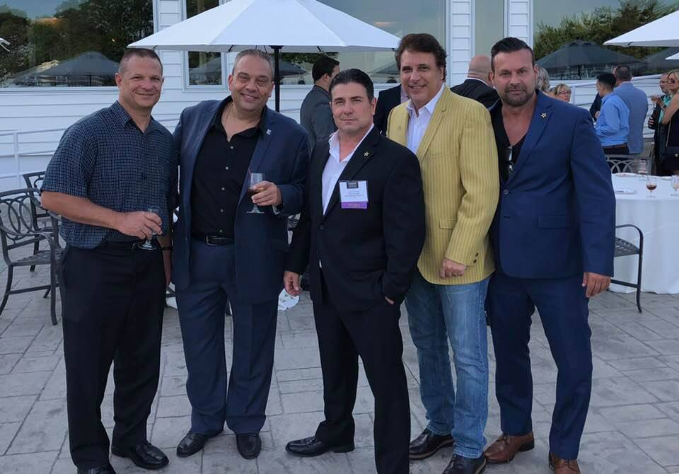 "HAnging with good friends at :The King's of Staten Island"" (L-R) Danny Bahno, Gaetano Iacono, Johnny P, Lou Martini Jr & Stev Stanullis"