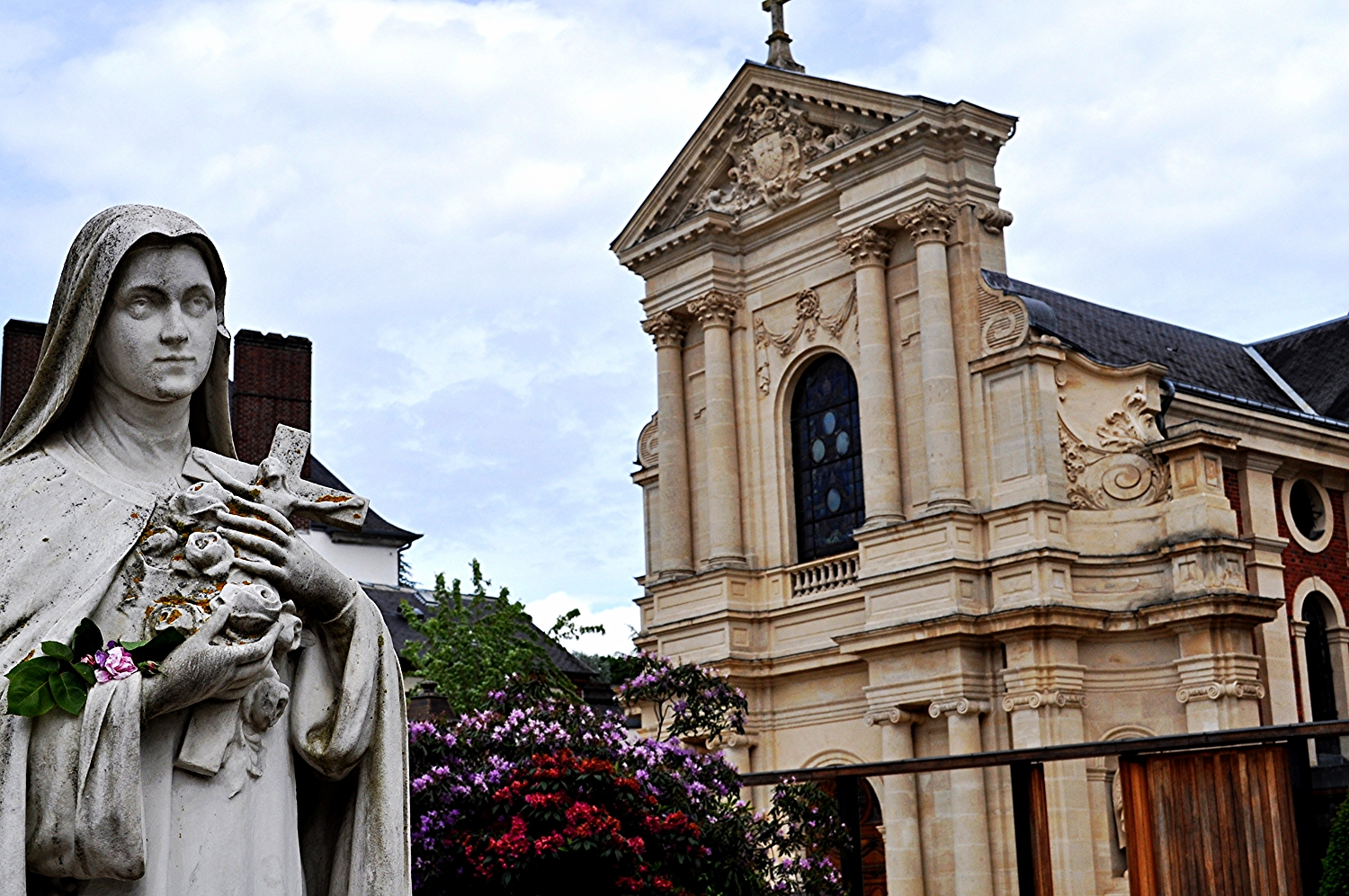 ^ taken at the Carmelite Convent in Lisieux, France  -- I had an opportunity to visit there while studying abroad in Paris.