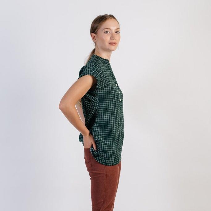 number o4 | the windowpane blouse