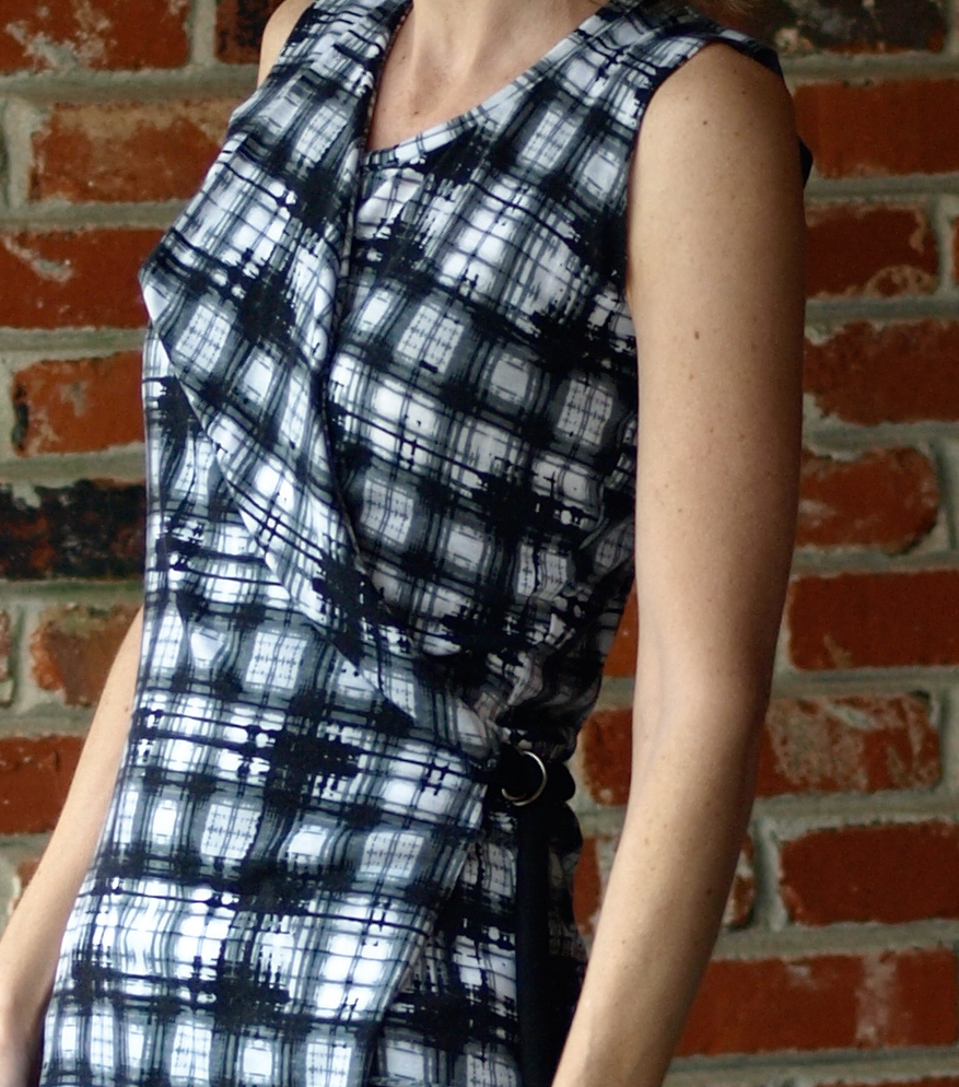 Abstract plaid wrap