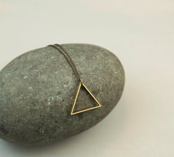 Triangle necklace from  BohemianFringe