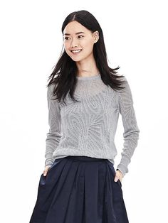 Banana Republic Lace Stitch Sweater