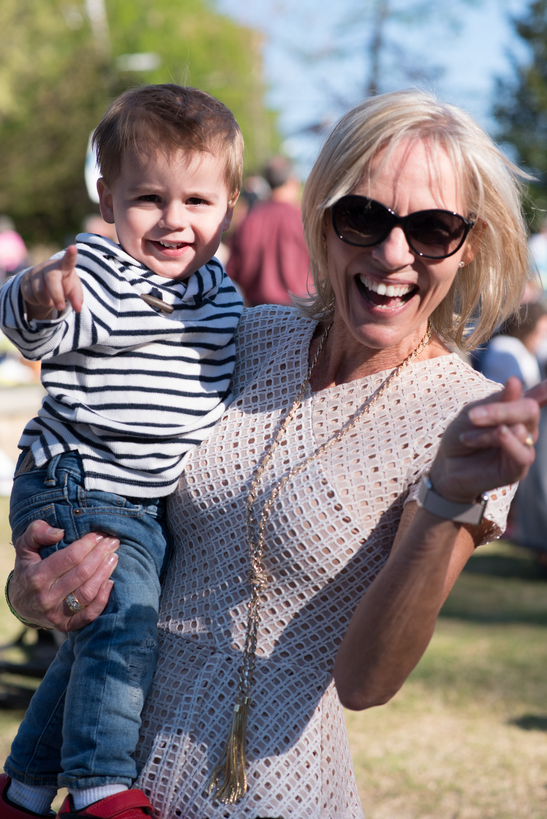 Gitte, who was the most fashionable grandma at the festival, wearing her BCBG top.