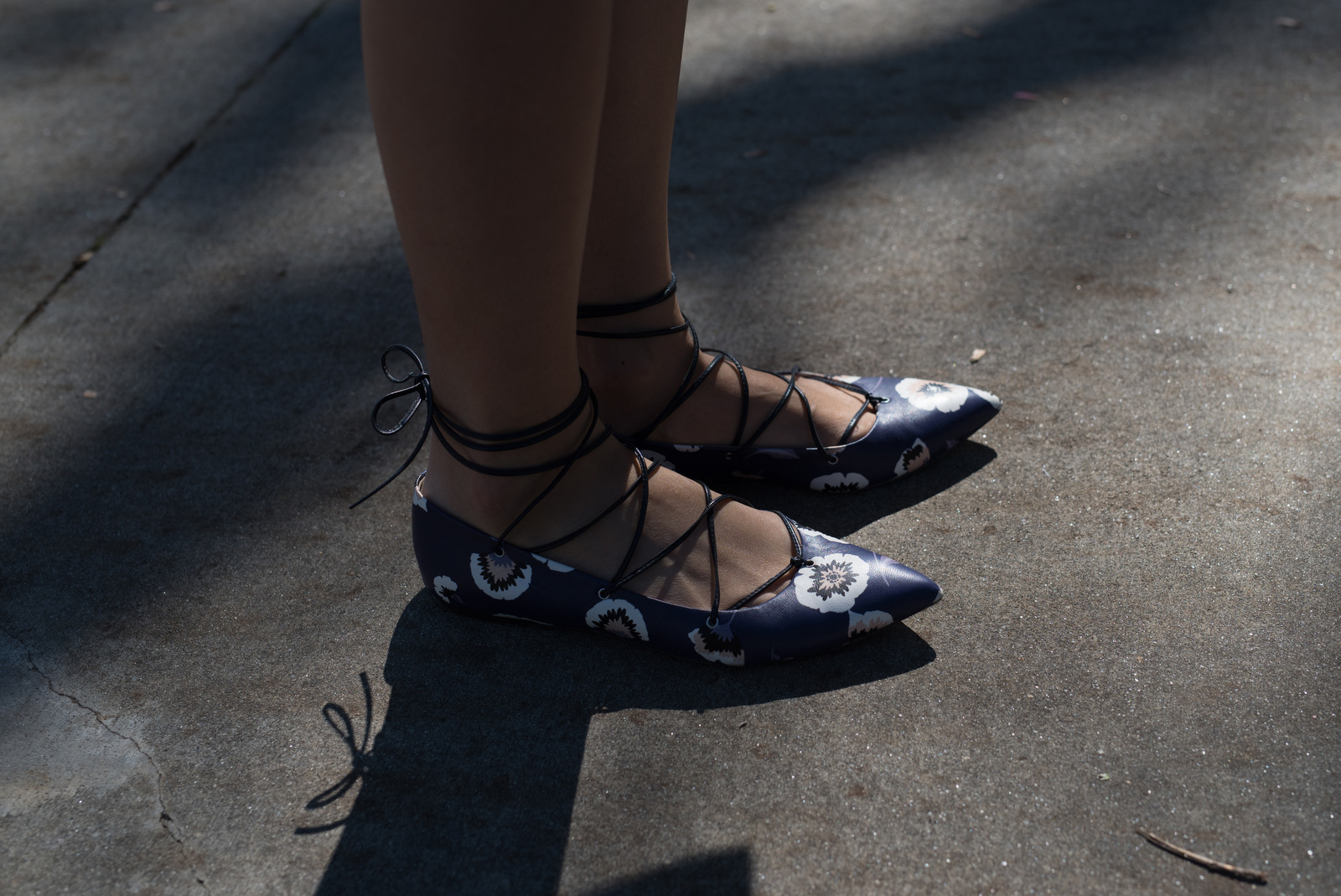 The shoes are from J. Crew. She was in such a hurry for class that I didn't get her name.