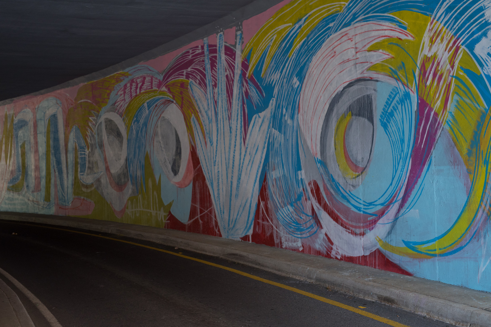 This is an awesome tunnel behind SCAD.