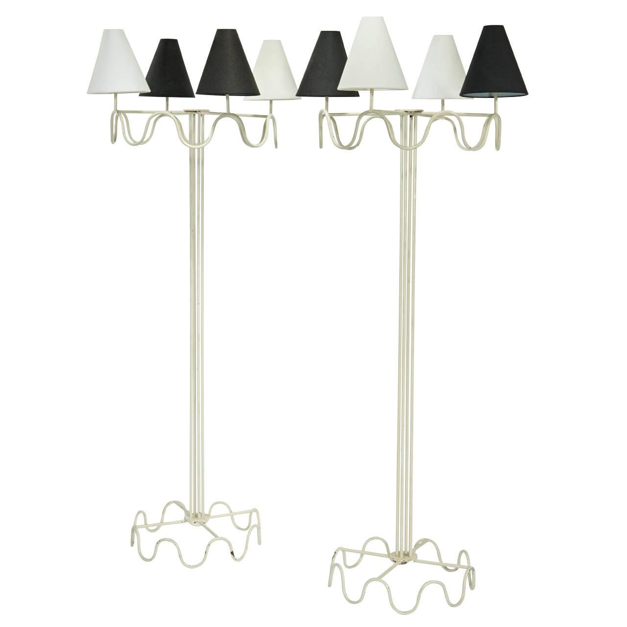 "Jean Royère  ""Ondulation"" Standard Lamps $85,000"