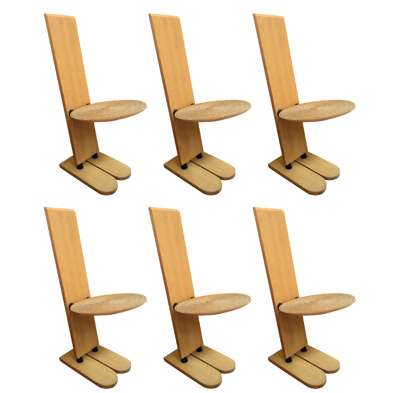 "Gigi Sabadin  Rare ""Pala"" Chairs, Set of 6 $18,000"