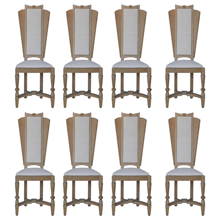 Suzanne Guiguichon  Coursed Tall Back DIning Chairs, Set of 8 $32,000