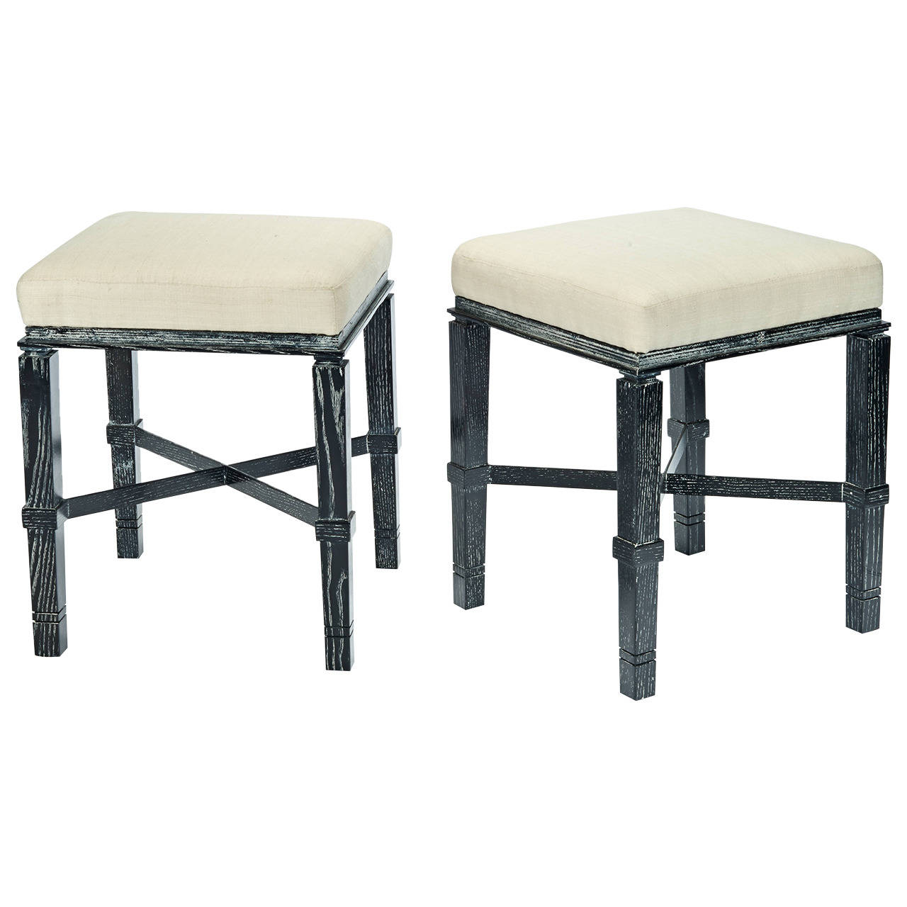 """William """"Billy"""" Haines  Stools in Silver Fox Finish $12,000"""