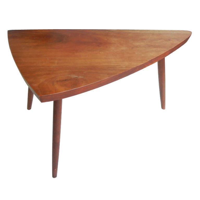 George Nakashima   Triangular Cherry Occasional Table $6,500