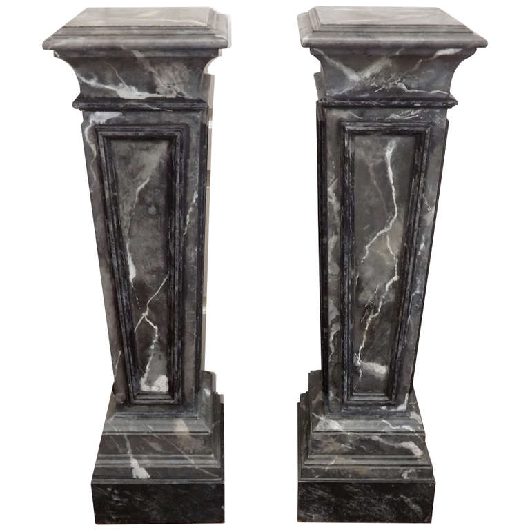 Maison Jansen  Marbleized Pedestals $6,500