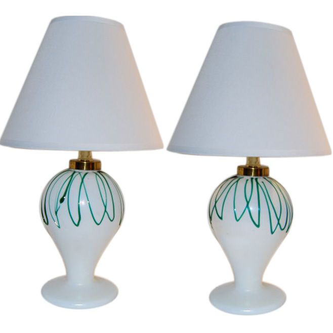 Salviati  Pair of Boudoir Lamps $3,600