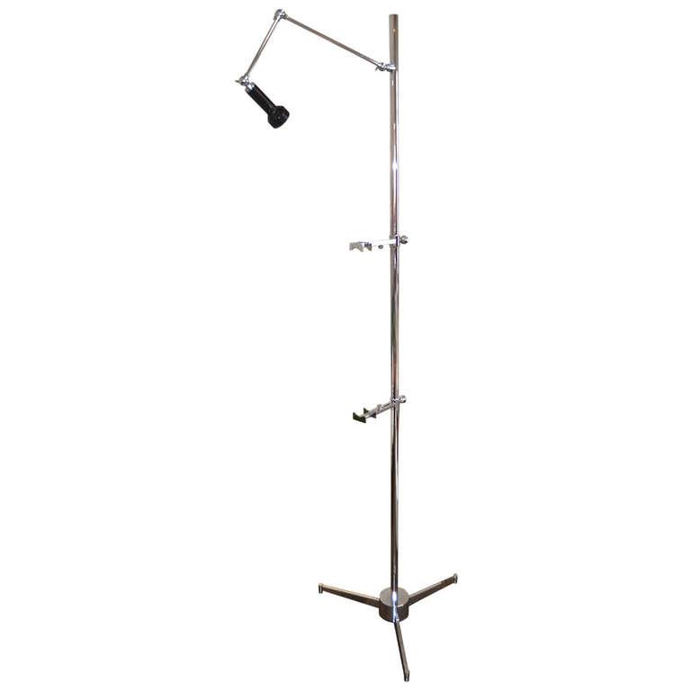 Angelo Lelli for Arredoluce  Easel Lamp in Chrome $14,000