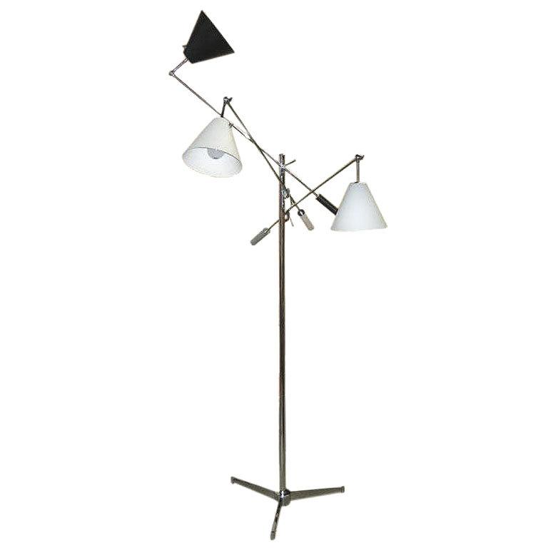 Arredoluce  Triennale Lamp-Grey Black White $12,500
