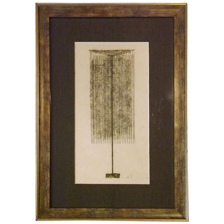Harry Bertoia  Monoprint $3,200